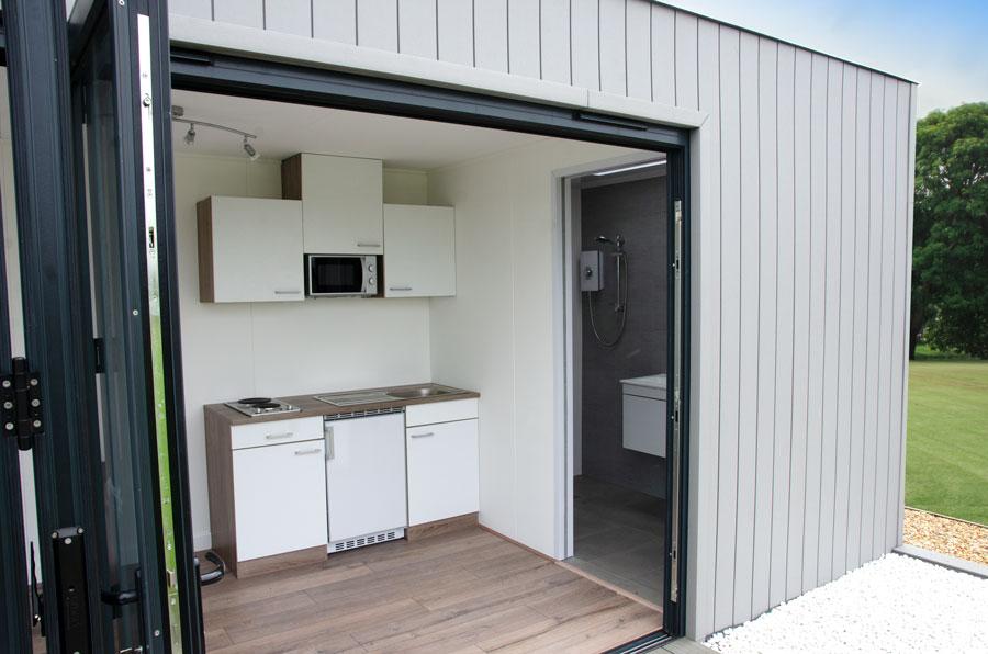 guest accommodation, better than a caravan